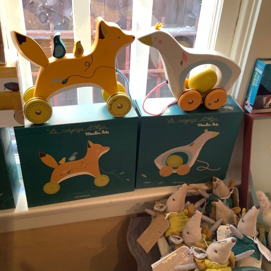 Wood pull toy Fox or Goose $39.50
