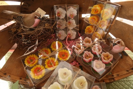 Flower votive candles