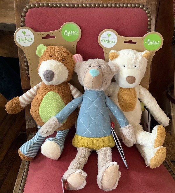 blue bear $37 , organic cotton bears $49.50