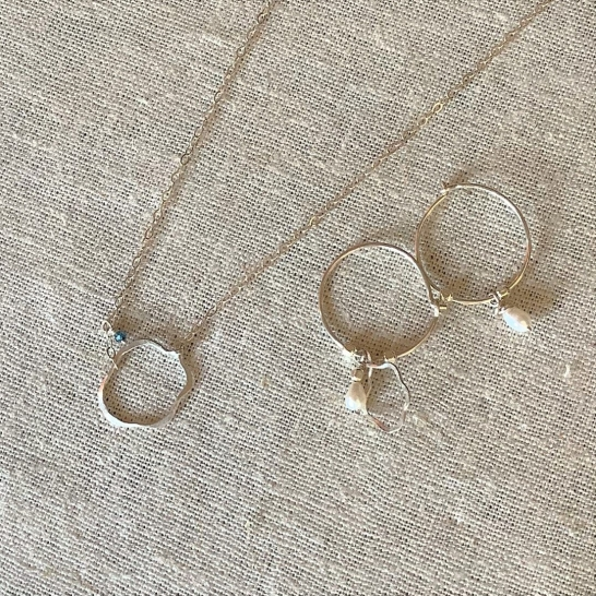 Sterling Nuage necklace $55 ,Sterling Nuage /pearl earrings $42